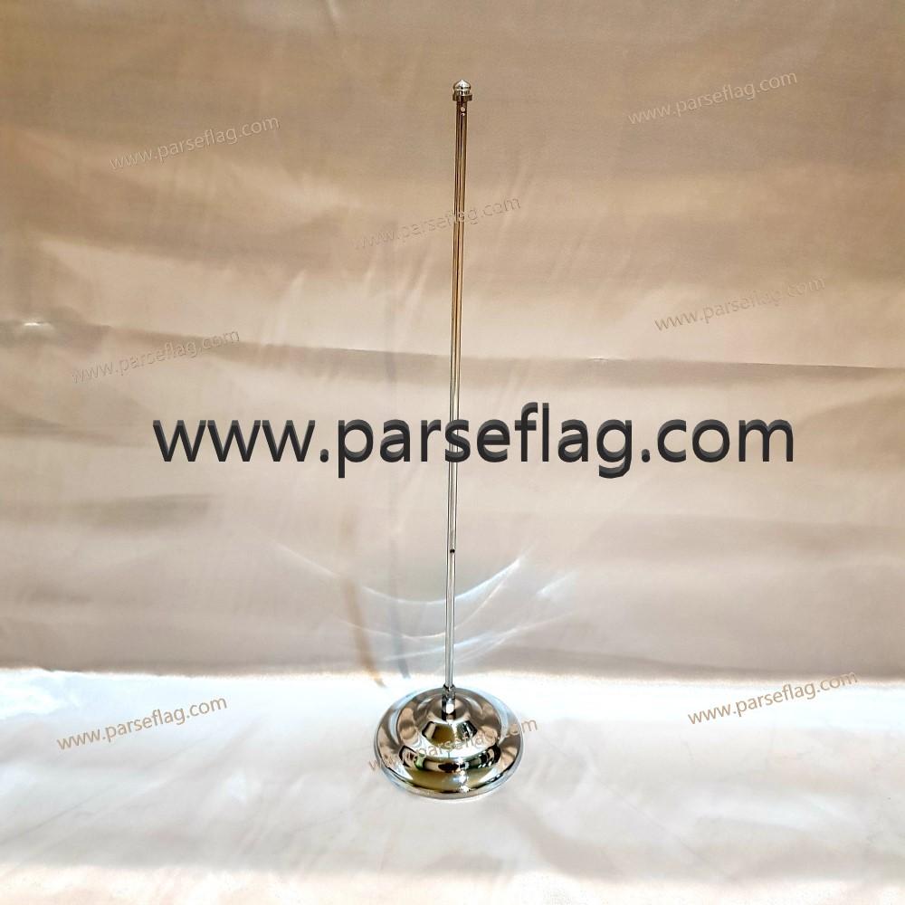 پایه پرچم رومیزی تک میله استیل