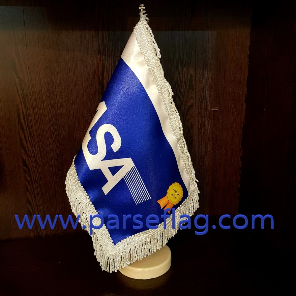 پرچم رومیزی ساتن براق